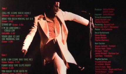 Al Green – Call Me - Speakers Corner Records
